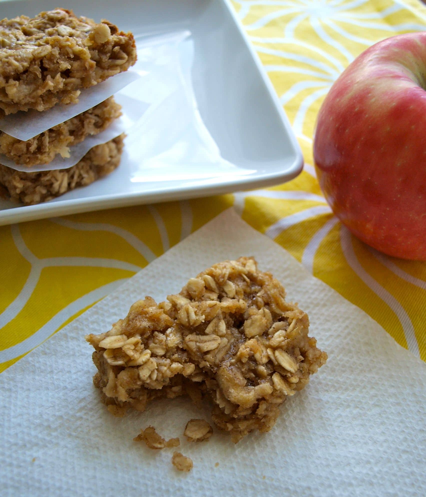 Apple peanut butter snack bars: no flour, no oil, and no refined sugar ...