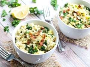 Warm Quinoa Salad With Apple and Kale