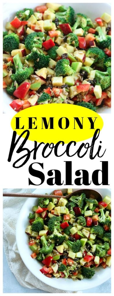 Lemony Broccoli Salad Recipe. This is a great #detox #salad to #restart after the holidays! #glutenfree #vegan #healthy