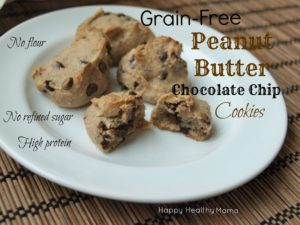 Grain-free peanut butter chocolate chip cookies {gluten-free, vegan, soy-free}