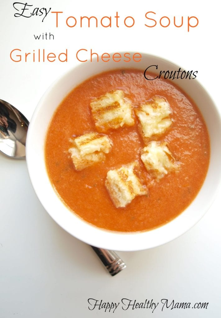 ... tomato soup with grilled cheese croutons. As soon as Tim saw it, he