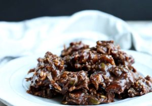 Healthy Chocolate No Bake Trail Mix Cookies
