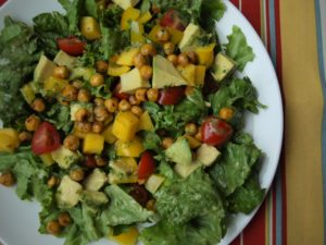 Fiesta salad with cilantro-lime dressing