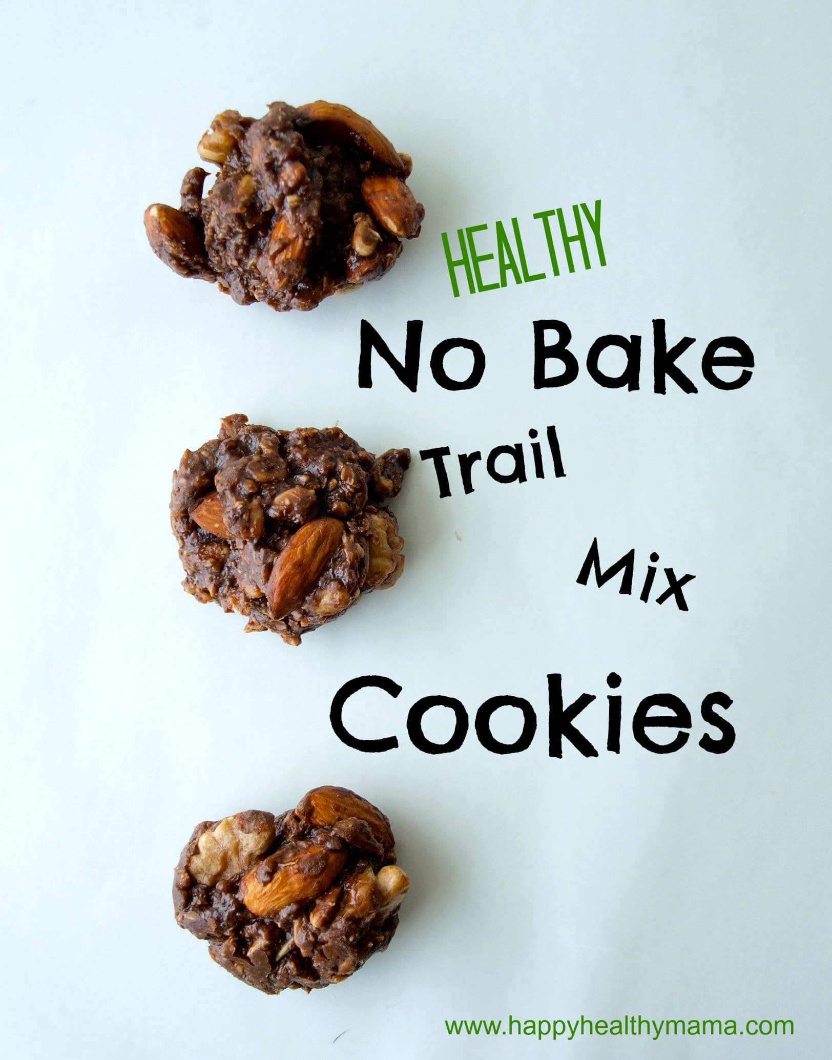 Chocolate no bake trail mix cookies {grain-free, dairy-free}