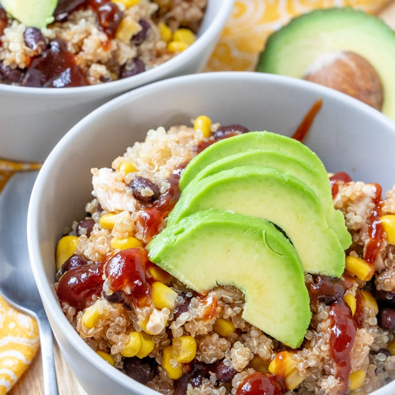 Barbecue chicken QUINOA BOWLS recipe