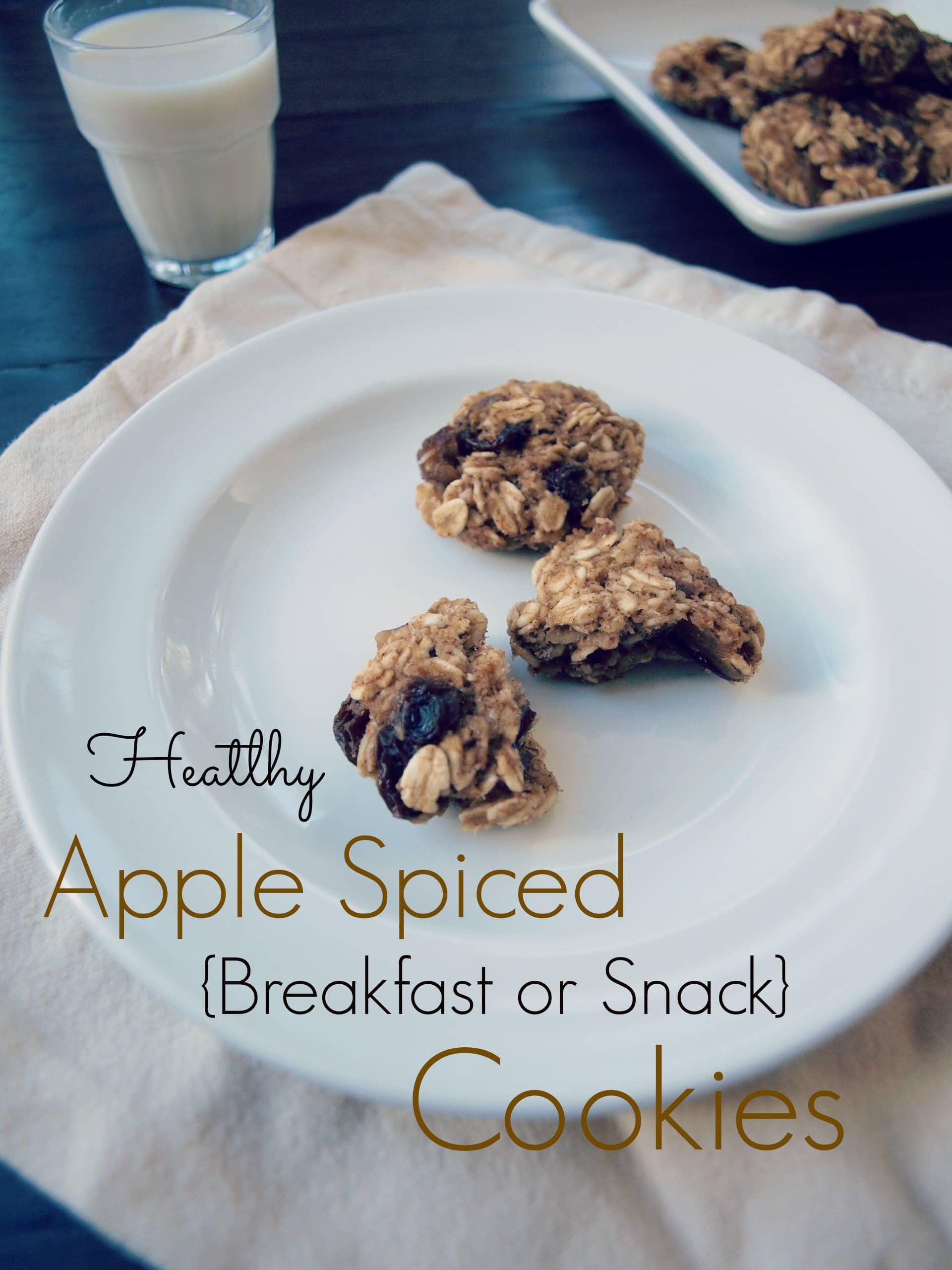 Healthy apple spiced breakfast or snack cookies