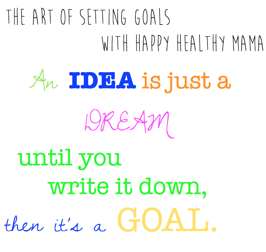 The art of setting goals (and a free 2014 goals sheet printable)