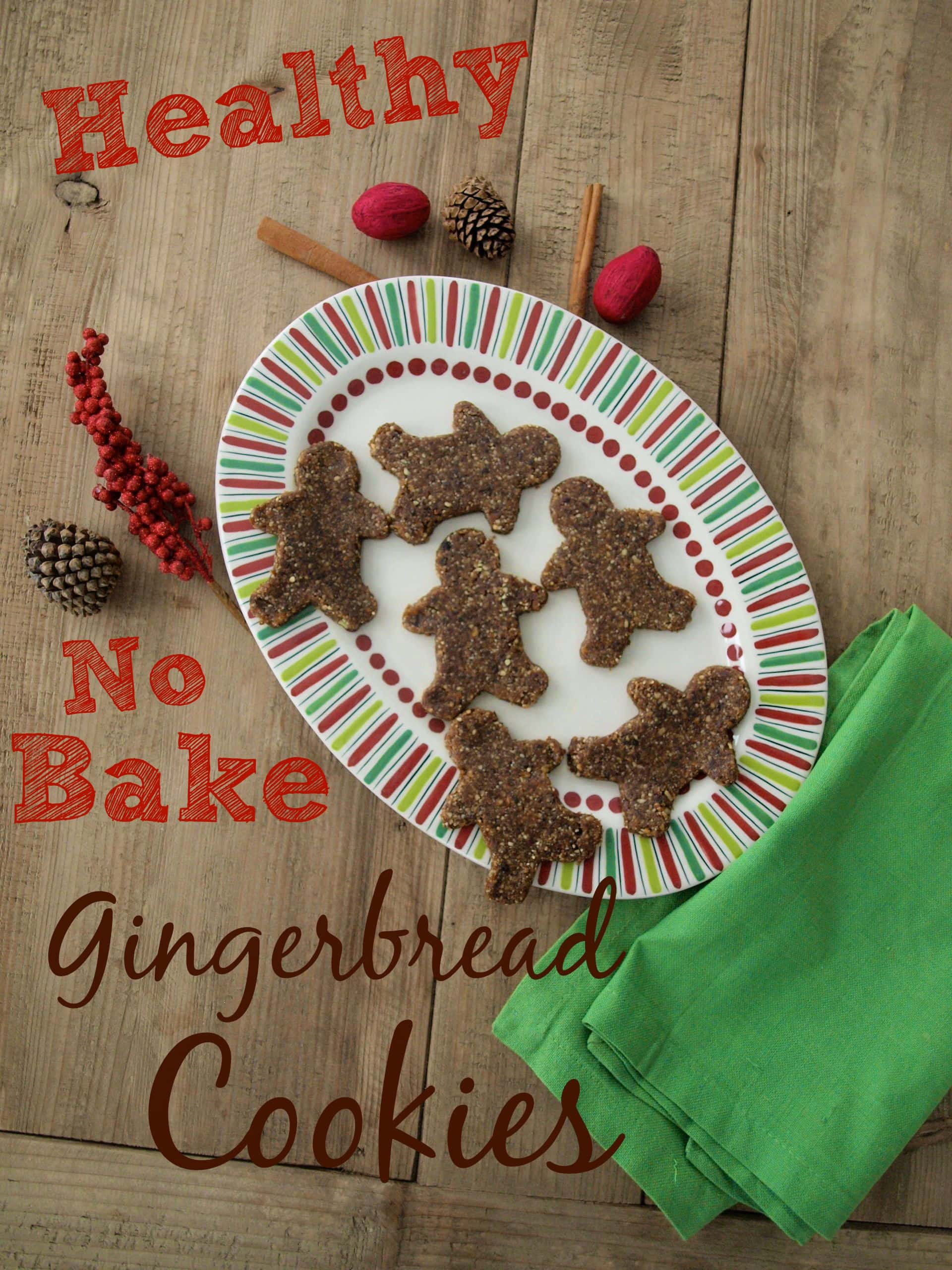Healthy no bake gingerbread cookies