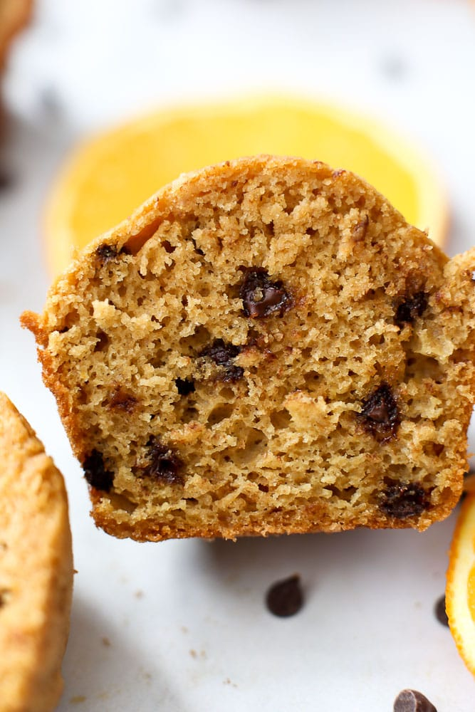 recipe Orange Chocolate Chip Muffins-inside texture is fluffy and perfect