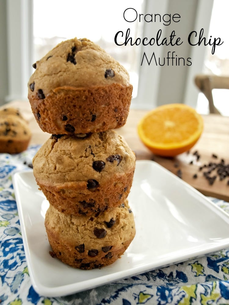 orange chocolate chip muffins - Happy Healthy Mama