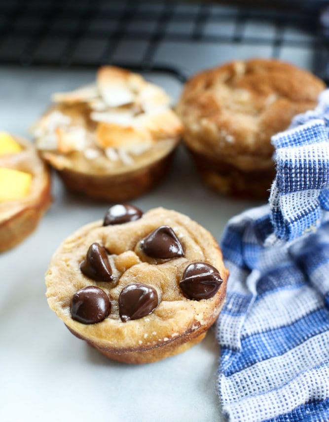 Blender Muffins recipe with chocolate chips