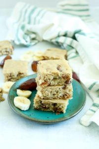Banana Bread Date Bars Recipe