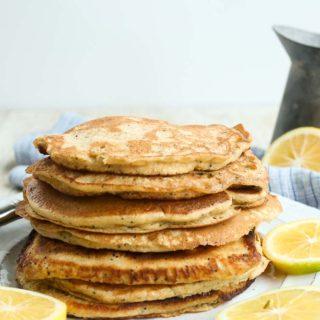 Meyer Lemon Poppy Seed Pancakes
