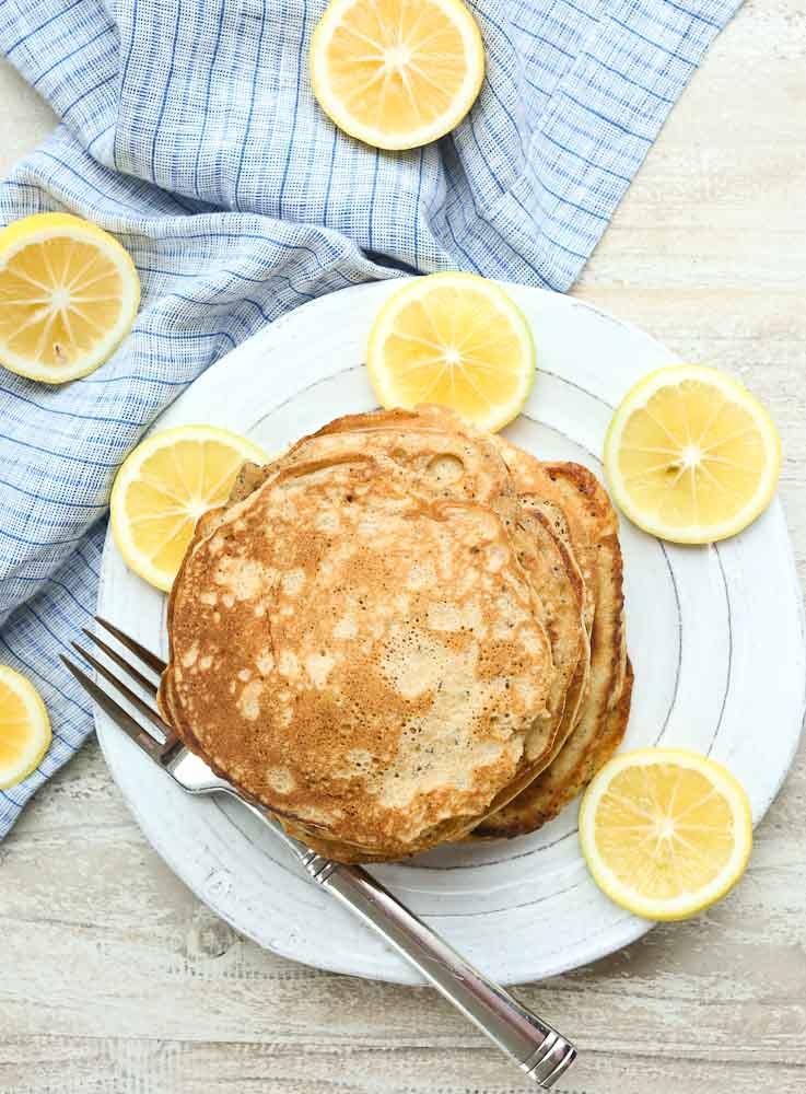 The BEST Lemon Poppy Seed Pancake Recipe