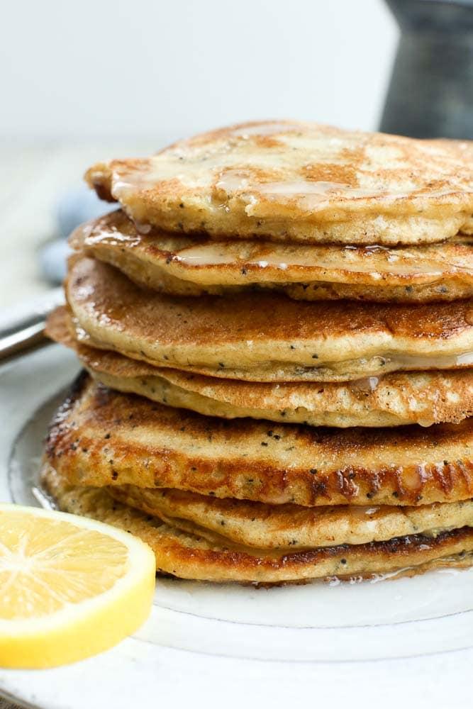 Healthy pancake recipe with this Meyer Lemon Poppy Seed Pancake Recipe
