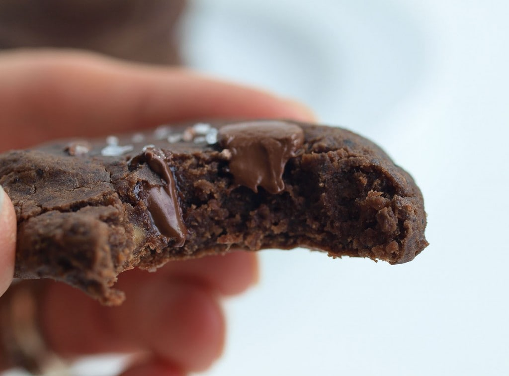 Black Bean Chocolate Peanut Butter Cookies. These healthy cookies are made with NO flour, NO oil, and NO refined sugar. You don't have to tell anyone they are made with black beans because you can't taste the beans at all! These are just incredible cookies that happen to be healthy.