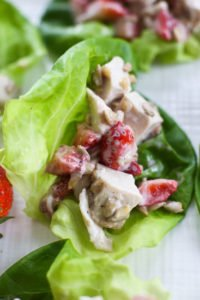 Chicken Strawberry Salad Lettuce Wraps