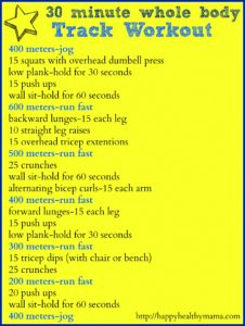 Fitness Friday:  30 Minute Whole Body Track Workout