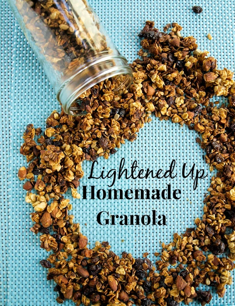 lightened up homemade granola