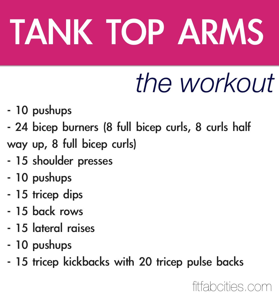 7 Of The Best Workouts For Tank Top Arms