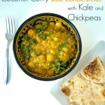 Vegan One Pot Coconut Curry Lentil Bowl with Kale and Chickpeas || Happy Healthy Mama