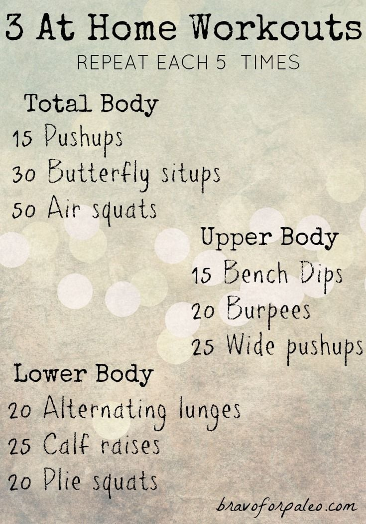At Home Workout Without Equipment From Bravo For Paleo Save