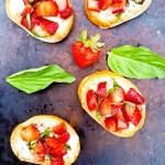 Strawberry Bruschetta from Happy Healthy