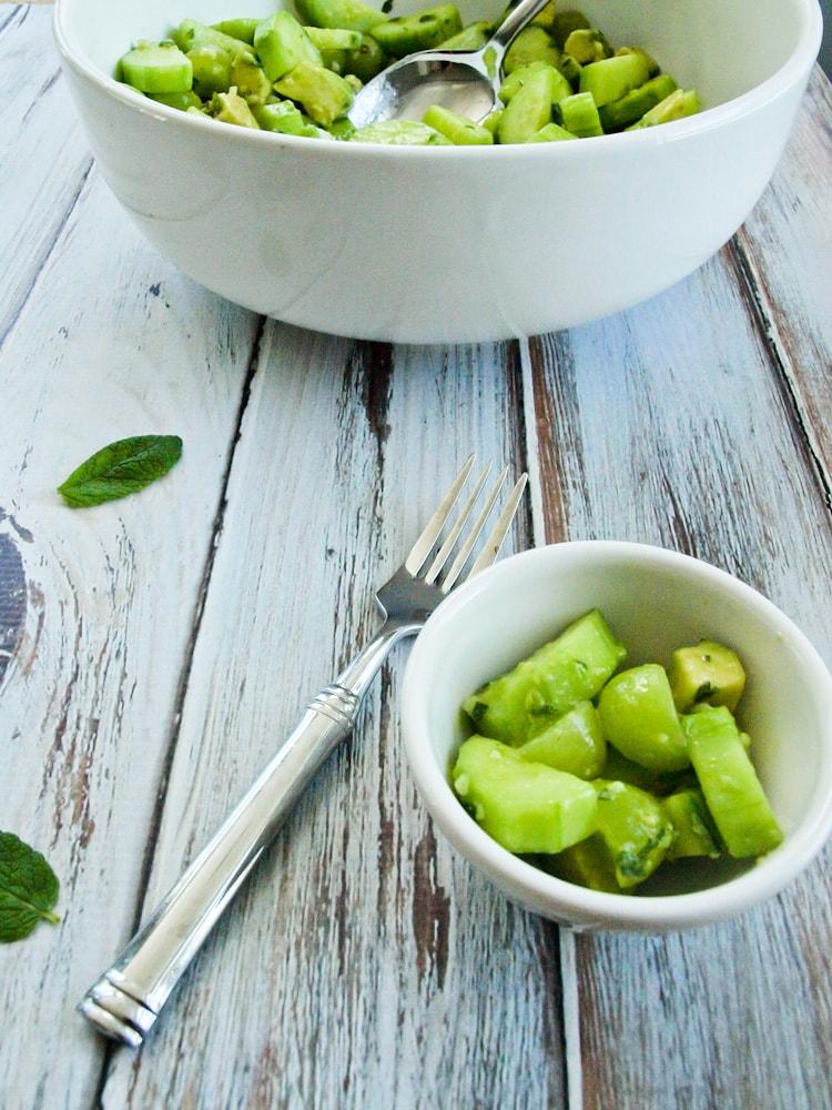 Cucumber, Green Grape, and Avocado Salad