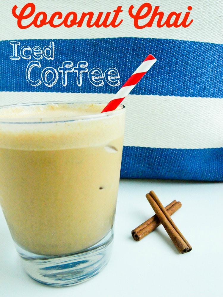 Coconut Chai Spiced Iced Coffee