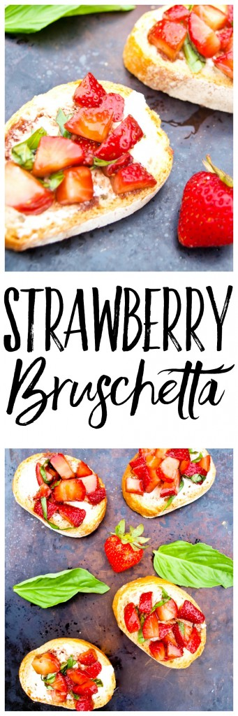 This Strawberry Bruschetta is a healthy and easy appetizer that is perfect for summer entertaining!