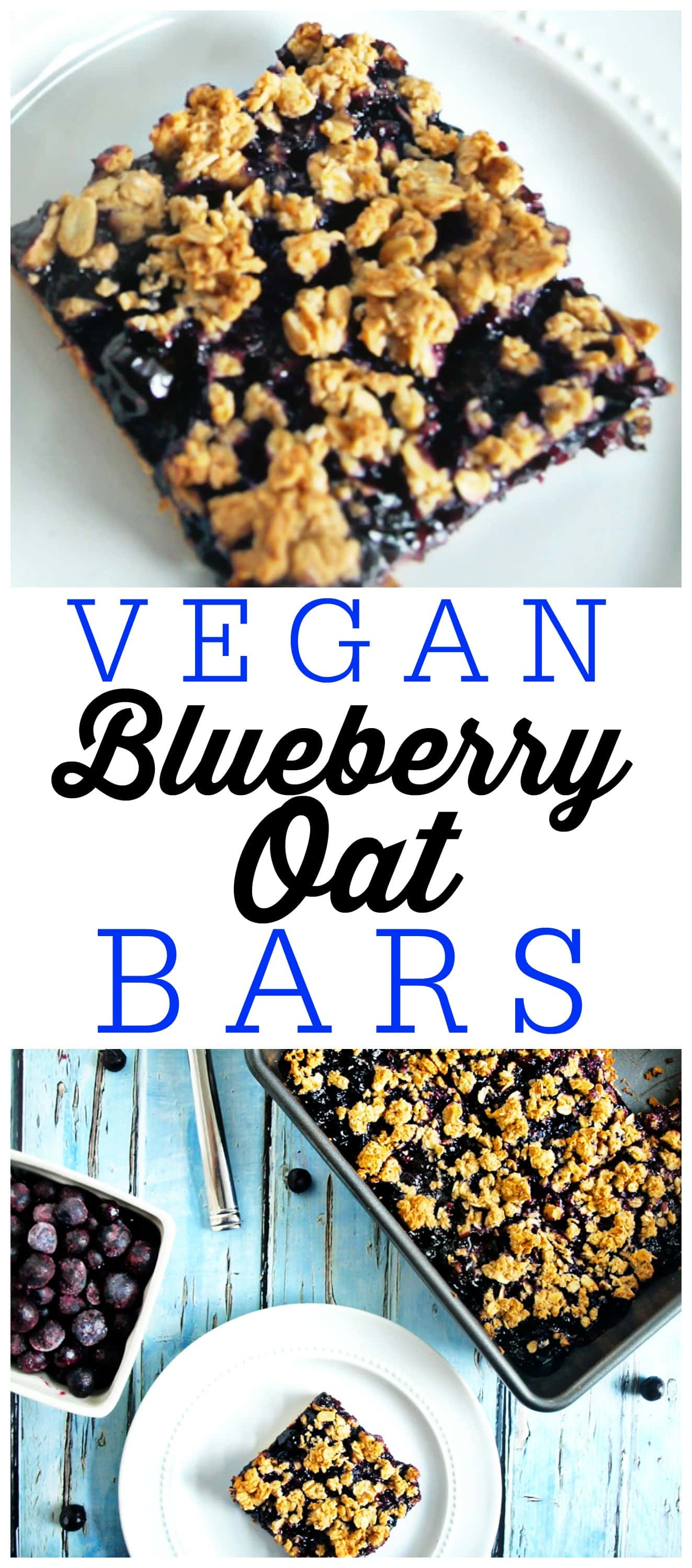 These Vegan Blueberry Oat Bars are a great recipe for a healthy breakfast, snack, or even desserts!
