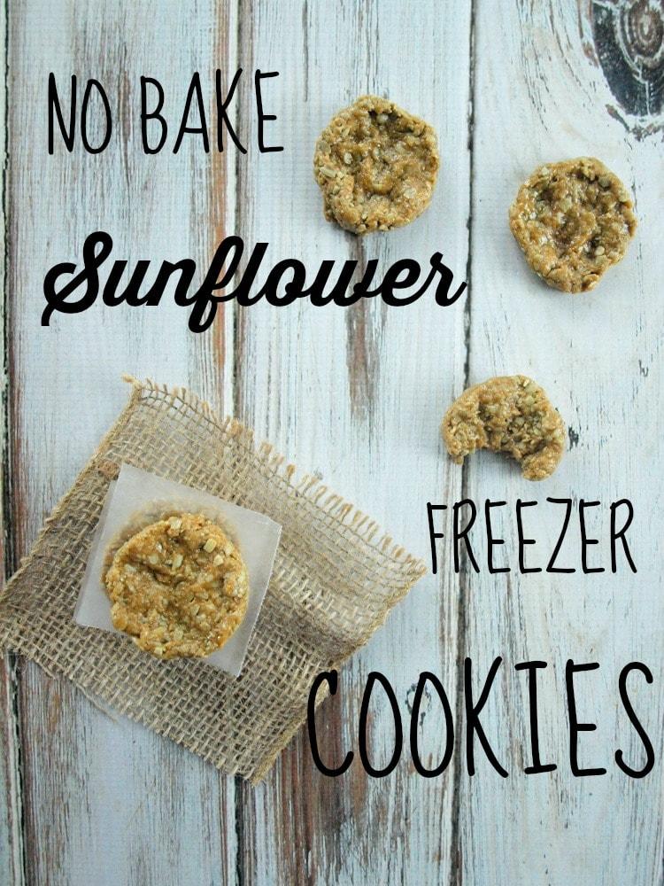 No Bake Sunflower Freezer Cookies