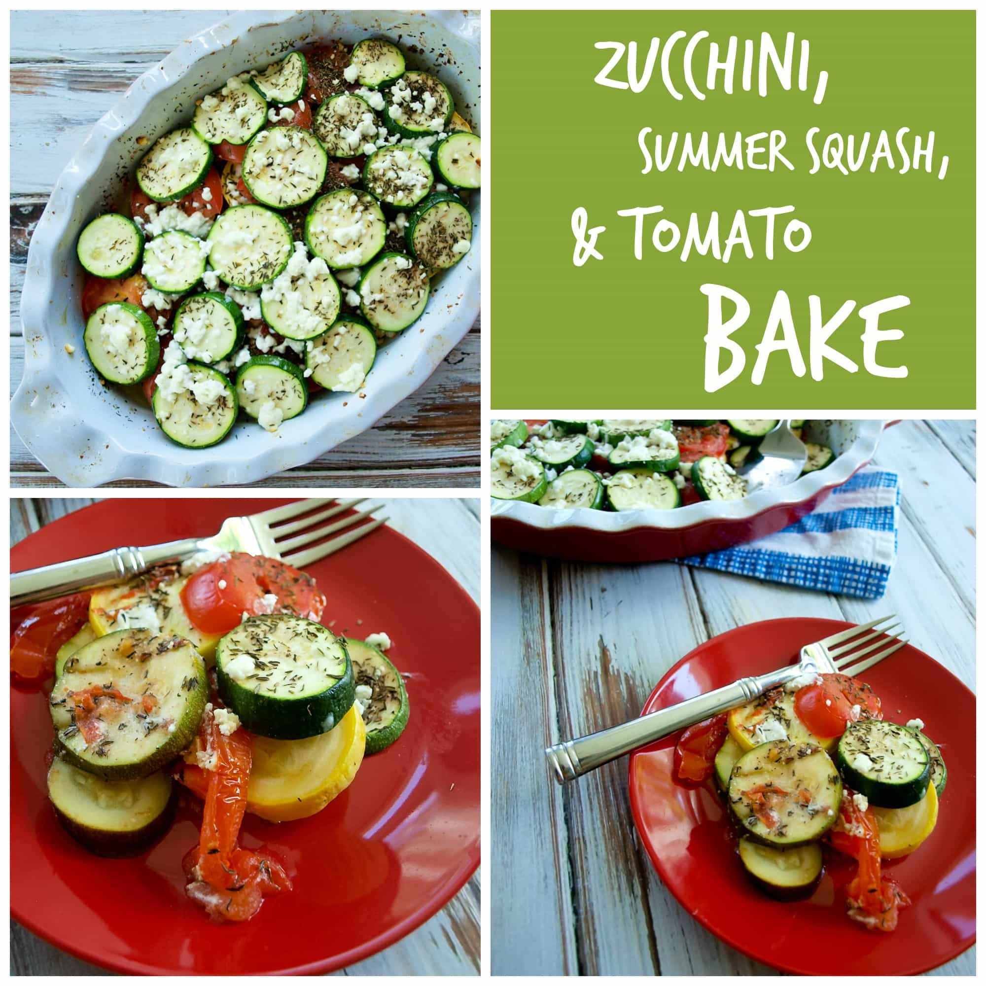 Zucchini, Summer Squash, and Tomato Bake