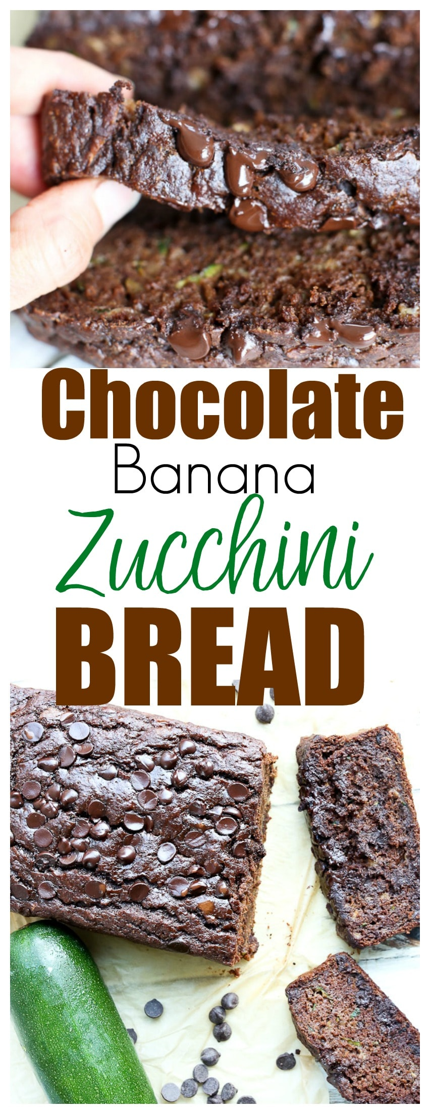 Double chocolate banana zucchini bread happy healthy mama chocolate banana zucchini bread recipe quick bread recipe healthy recipe healthy dessert forumfinder Image collections