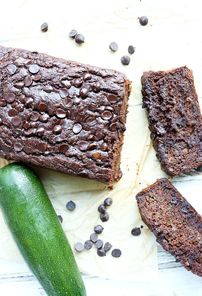 Average 10k Time >> Double Chocolate Banana Zucchini Bread - Happy Healthy Mama