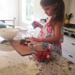 Meghan making strawberry lemonade