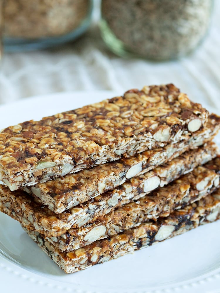 Easy Homemade Fruit, Nut, and Seed Granola Bars - Happy Healthy Mama