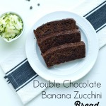 Double Chocolate Banana Zucchini Bread--this quick bread is super moist and decadent--you won't believe it's healthy!