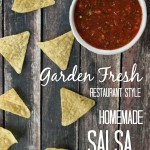 Restaurant style homemade salsa with fresh tomatoes