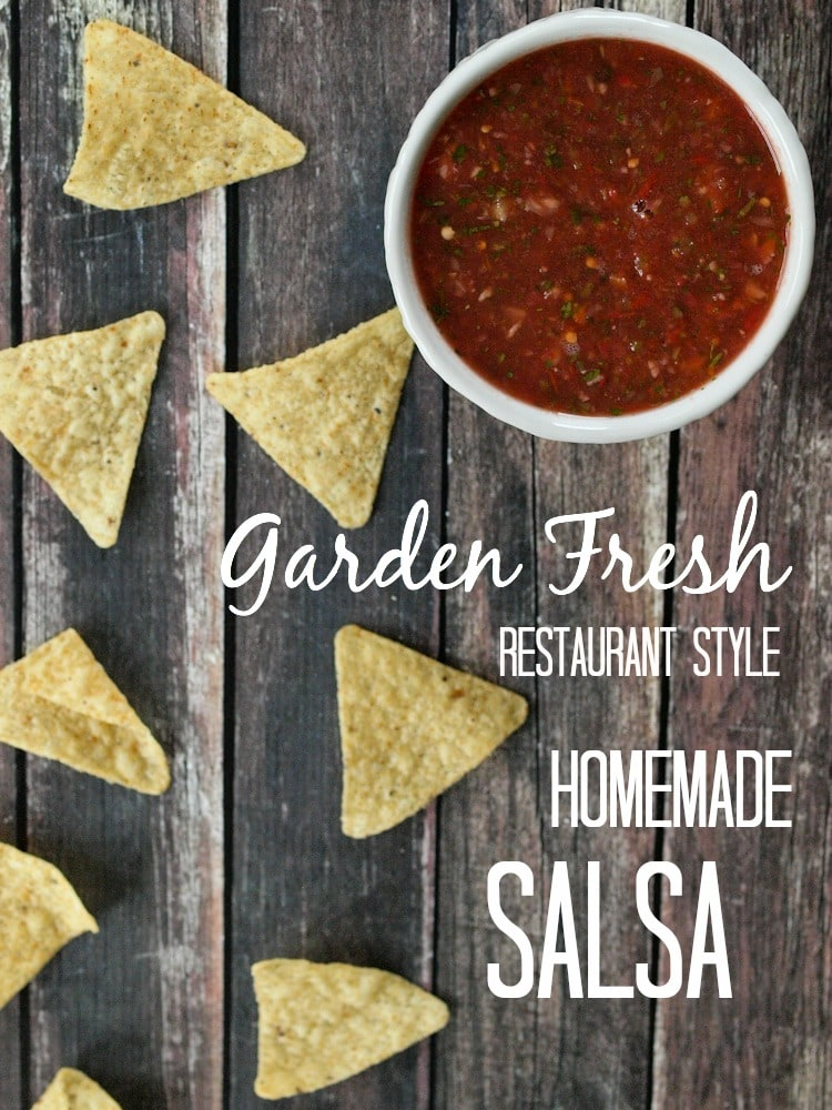 Restaurant Style Salsa with Fresh Tomatoes