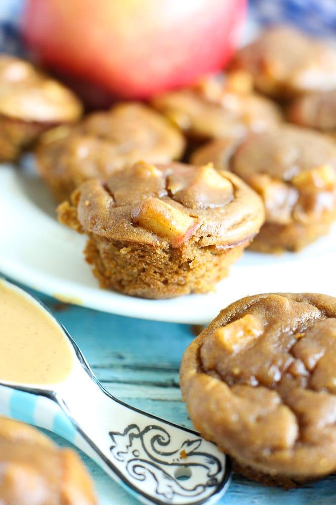 Apple Peanut Butter Blender Muffin Recipe healthy gluten-free breakfast