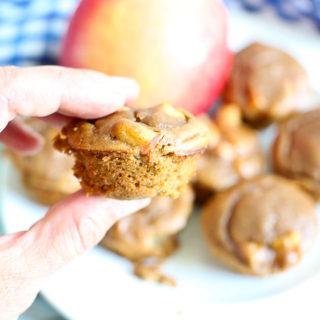 15 Minute Flourless Apple Peanut Butter Blender Muffins