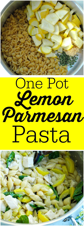 One pot lemon parmesan pasta happy healthy mama - Clean burnt pot lessminutes ...