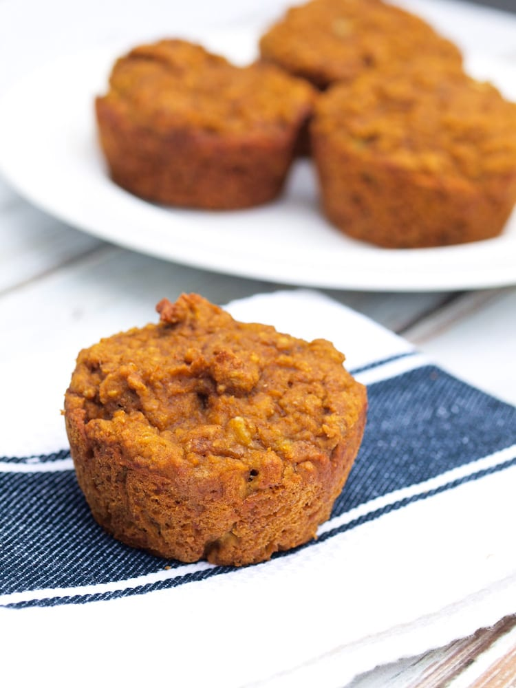 Super Healthy Banana Pumpkin Muffins-whole wheat and low sugar but totally delicious!