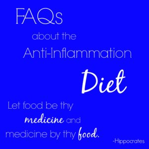 FAQs About My Anti-Inflammation Diet