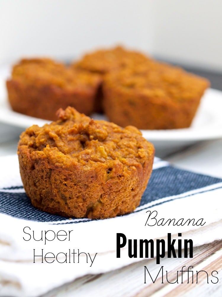 Look Again:  Super Healthy Pumpkin Banana Muffins