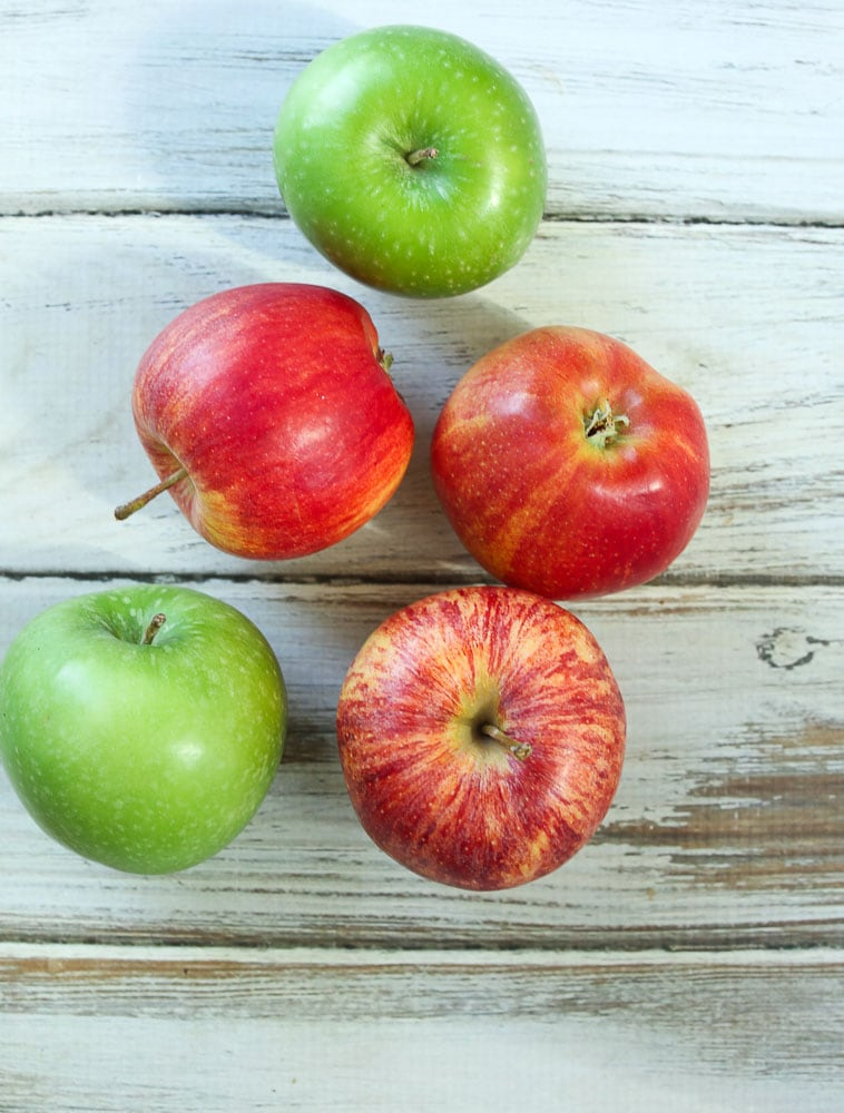 macintosh apples, granny smith apples for simple baked apples recipe