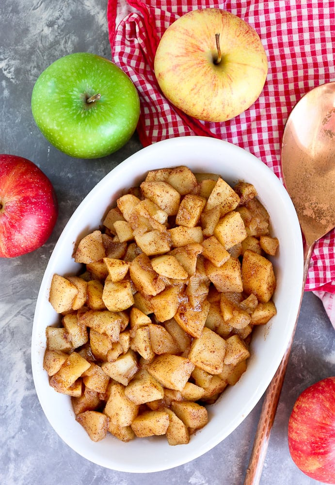 Simple Baked Apples Recipe with cinnamon apple slices