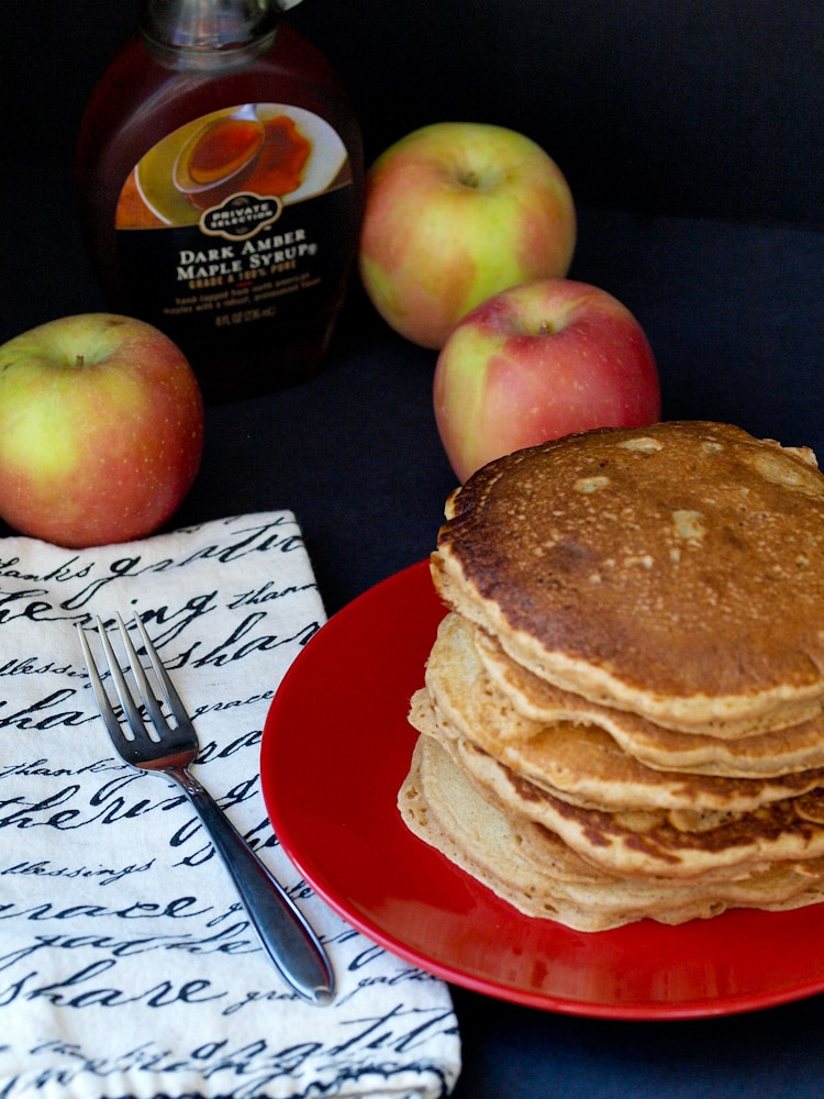 The Ultimate Whole Wheat Apple Pancakes