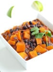 Sweet Potato Black Bean Chili-This healthy vegetarian chili is full of flavor! The colors make it perfect for Halloween, too.